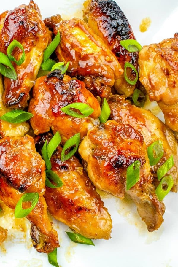 Kickin' Teriyaki Hot Wings are smothered in honey, sriracha, hoisin and teriyaki sauce then oven baked to crispy perfection.