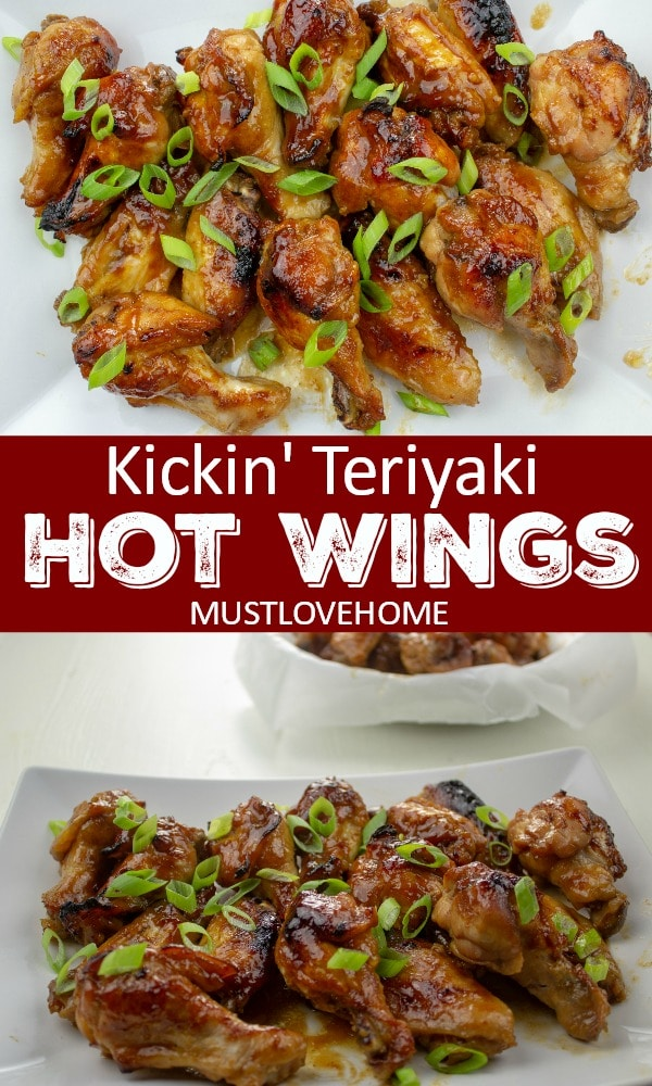 Kickin' Teriyaki Hot Wings are smothered in the perfect marriage of honey, sriracha, garlic and teriyaki sauce - baked then broiled to crispy on the outside perfection.