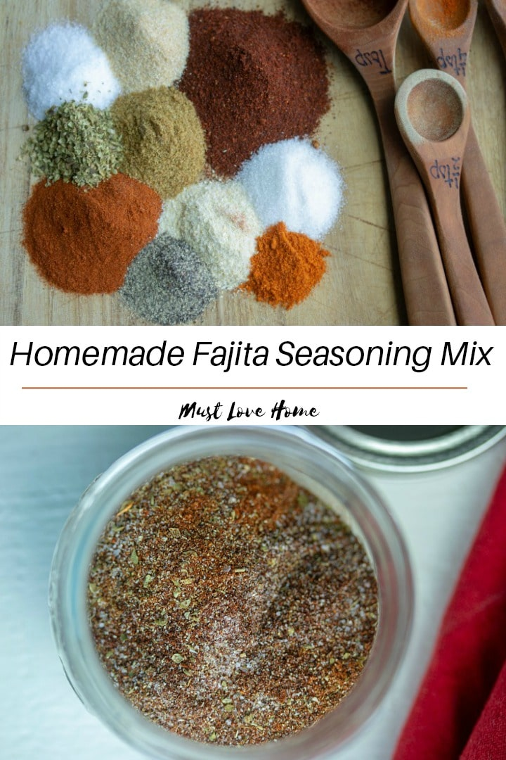 Make your own authentic homemade Fajita Seasoning Mix using this easy recipe and common pantry spices. Great to season vegetables too!