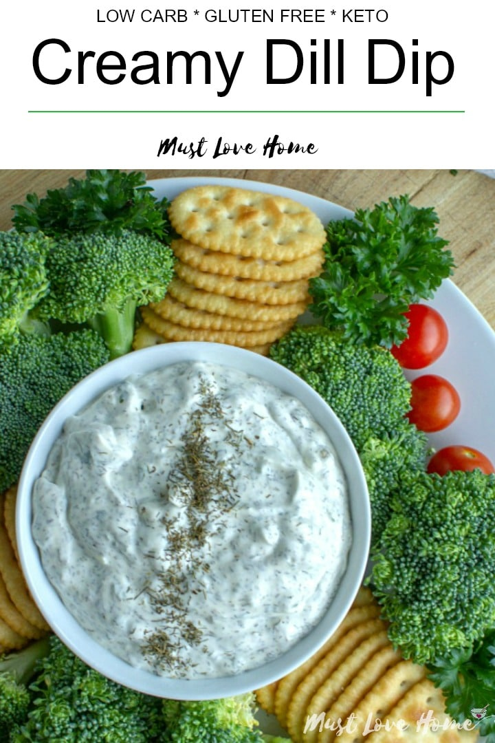 Simple and refreshing, this creamy dill dip is ready in minutes. Dill dip pairs well with any vegetables, crackers or chips!