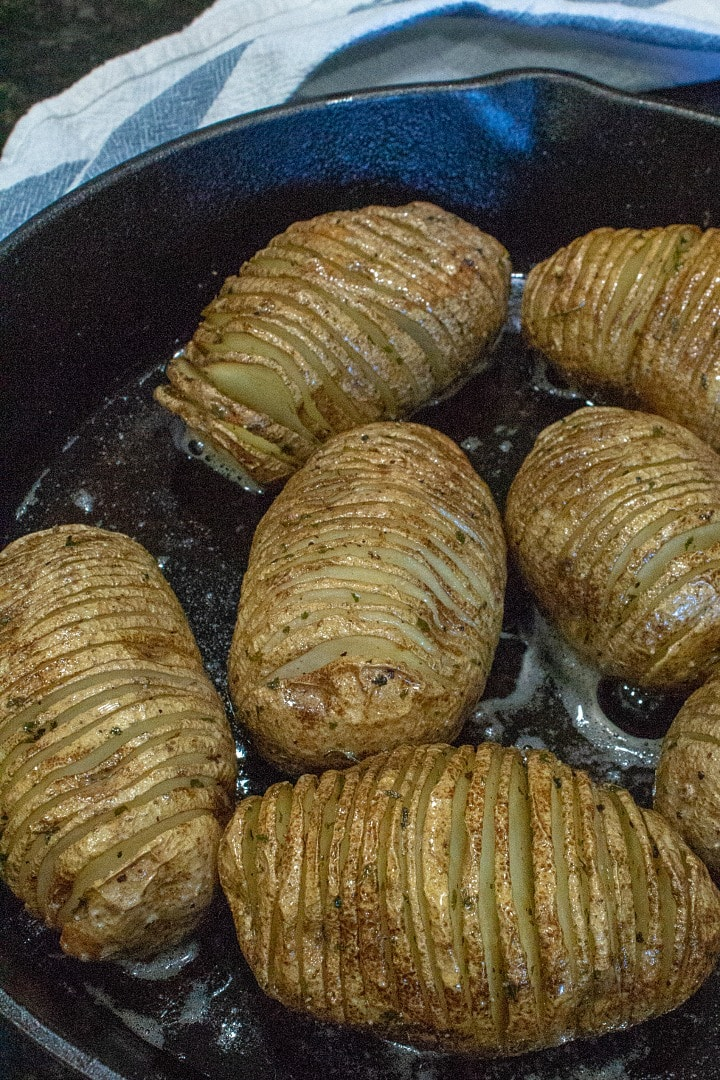 hallebach potatoes in cast iron skillet