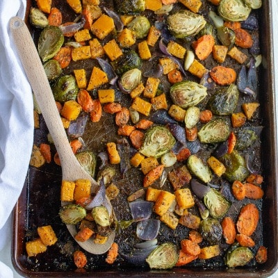 Roasted Vegetables with Garlic and Parmesan