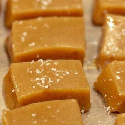 Easy Salted Chewy Caramels Recipe