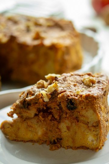 Easy Pumkin Walnut Bread Pudding