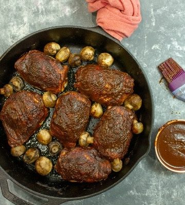 Smooth and spicy, Savory Chocolate Barbecue Chicken is smothered in a rich sauce made with dark chocolate, cumin, cider vinegar, brown sugar and a splash of coffee. A complex sauce paired with chicken for an undeniably different and delicious taste!