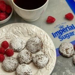 Delicate and sweet, Chocolate Melt In Your Mouth Sugar Cookies use only a handful of ingredients to produce a tender cookie that literally melts in your mouth.