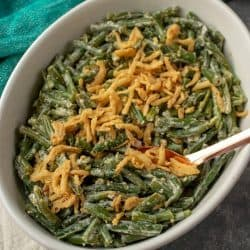 A delicious side dish for any occasion - Amazing Green Bean Mustard Sauce Casserole recipe is easy to make with real cream and approved by kids!