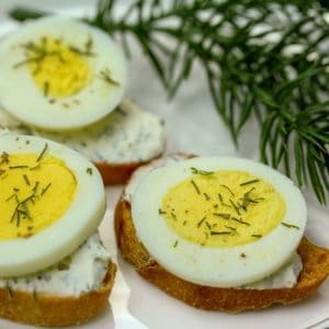 Easy Egg Dill Crostini Appetizer