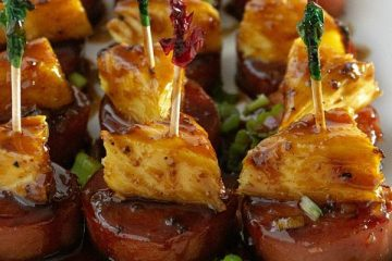 Try this saucy Asian Barbecue Sausage Bite recipe made with chunks of fresh pineapple!