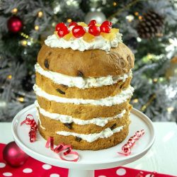 Easy Holiday Panettone Cream Cake