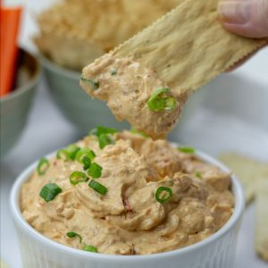 Crazy delicious and super easy, try this and you'll never need another party dip recipe! Takes less than 5 minutes to make!