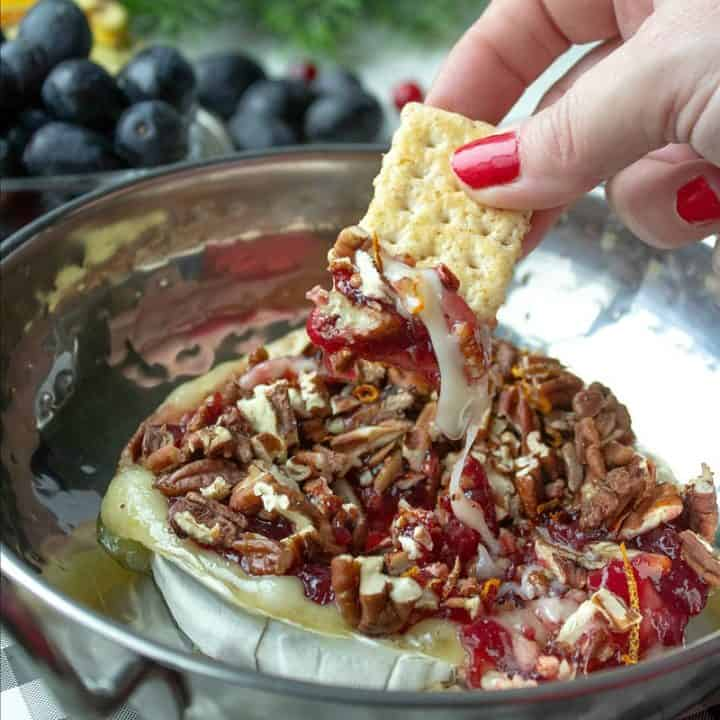Baked Brie with Lingonberry jam