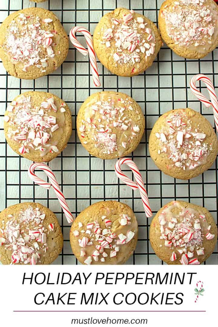 Make a batch of Peppermint Cake Mix Holiday Cookies in minutes with this simple recipe. Perfect for gift-giving, bake-sales and parties!