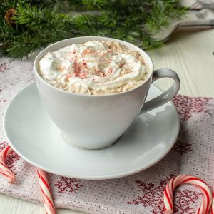 Ditch the packets and make some deliciously easy Peppermint Hot Chocolate in just a few minutes!