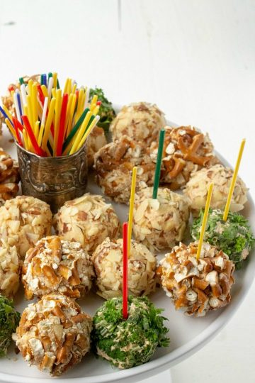 Make ahead Savory Cheese Ball Bites are an easy and elegant appetizer for your next gathering!