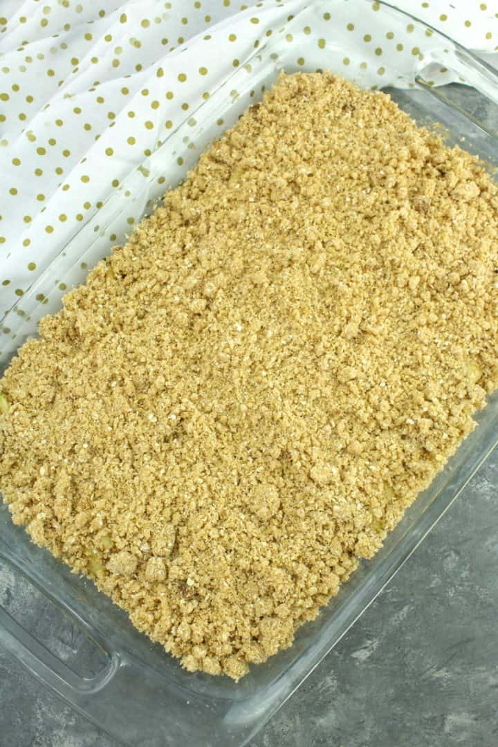 Cinnamon Apple Crisp ready for the oven