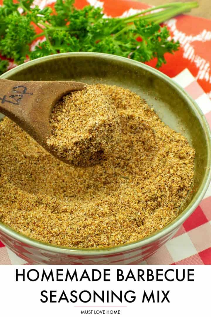 Sweet and spicy, this easy barbecue seasoning mix recipe adds serious flavor to your beef, chicken and pork!