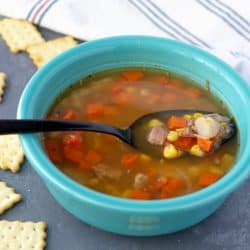 Make Leftover Ham and Corn Soup - it's the perfect use of that leftover ham from holiday dinners.