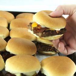 Easy Bacon Cheeseburger Slider