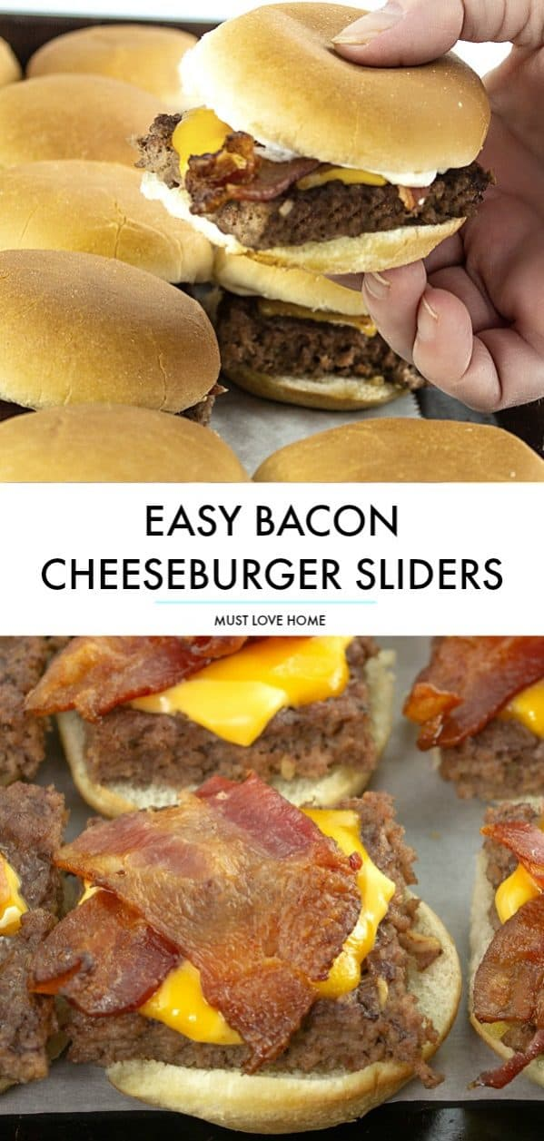 Tender beef, crispy bacon and oozing with melting cheese, you won't believe how simple these Bacon Cheeseburger Sliders are to make. Everything is made in the oven in under 30 minutes!