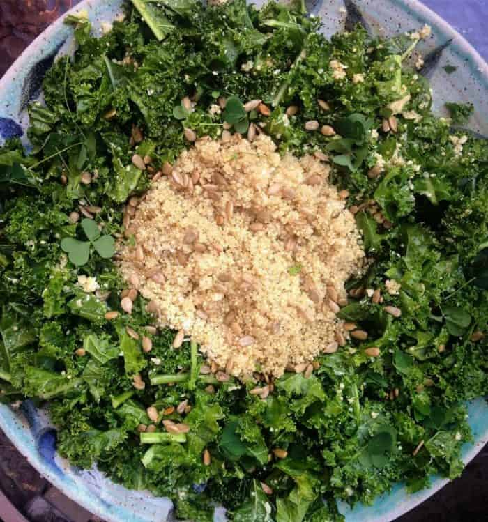Nutty Quinoa and Kale Superfood Salad