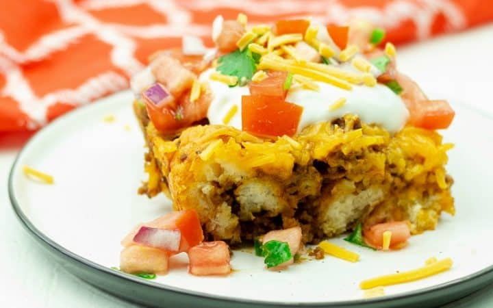 Easy Taco Biscuit Casserole