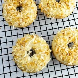 Toasted Coconut Baked Donuts