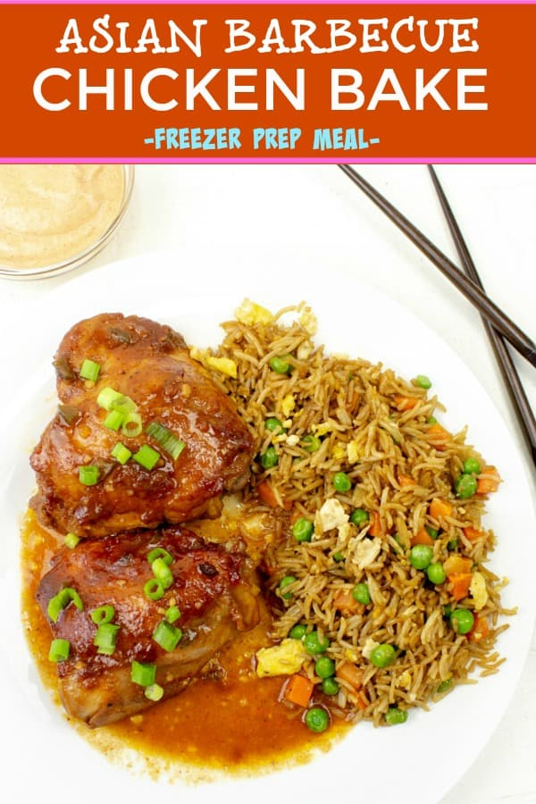 TENDER AND JUICY, FLAVORFUL ASIAN BARBECUE CHICKEN BAKE  GOES FROM FREEZER TO TABLE IN LESS THAN AN HOUR!