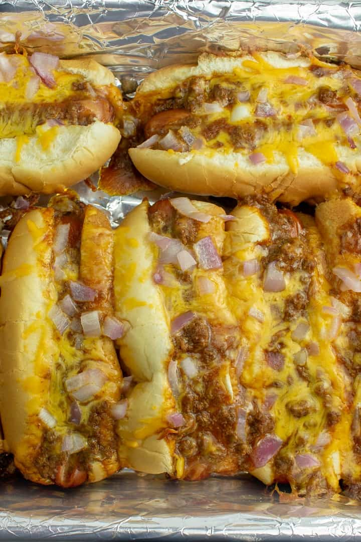 Hot from the oven cheese dogs