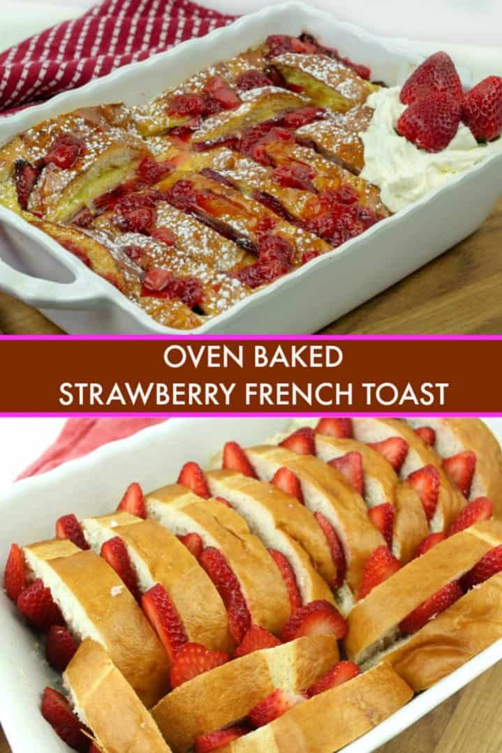 A tasty Strawberry laced french toast recipe for breakfast or brunch! Make ahead recipe!