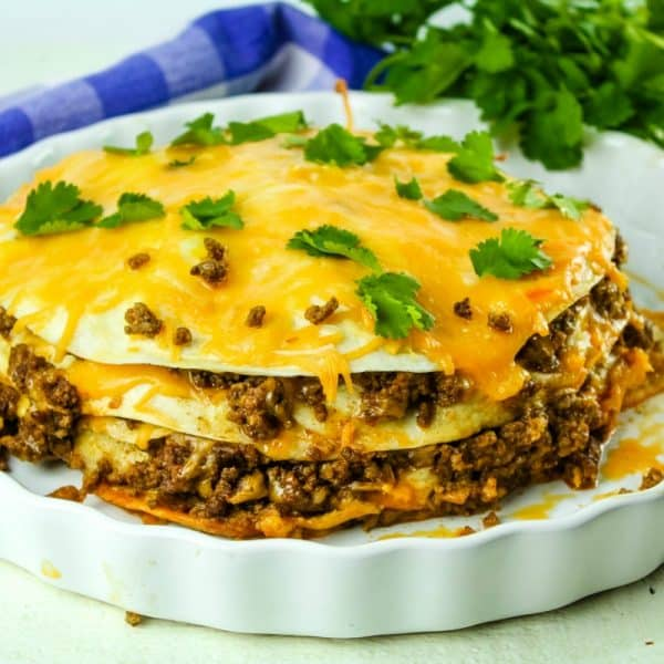 SLOW COOKER BEEF TACO STACK