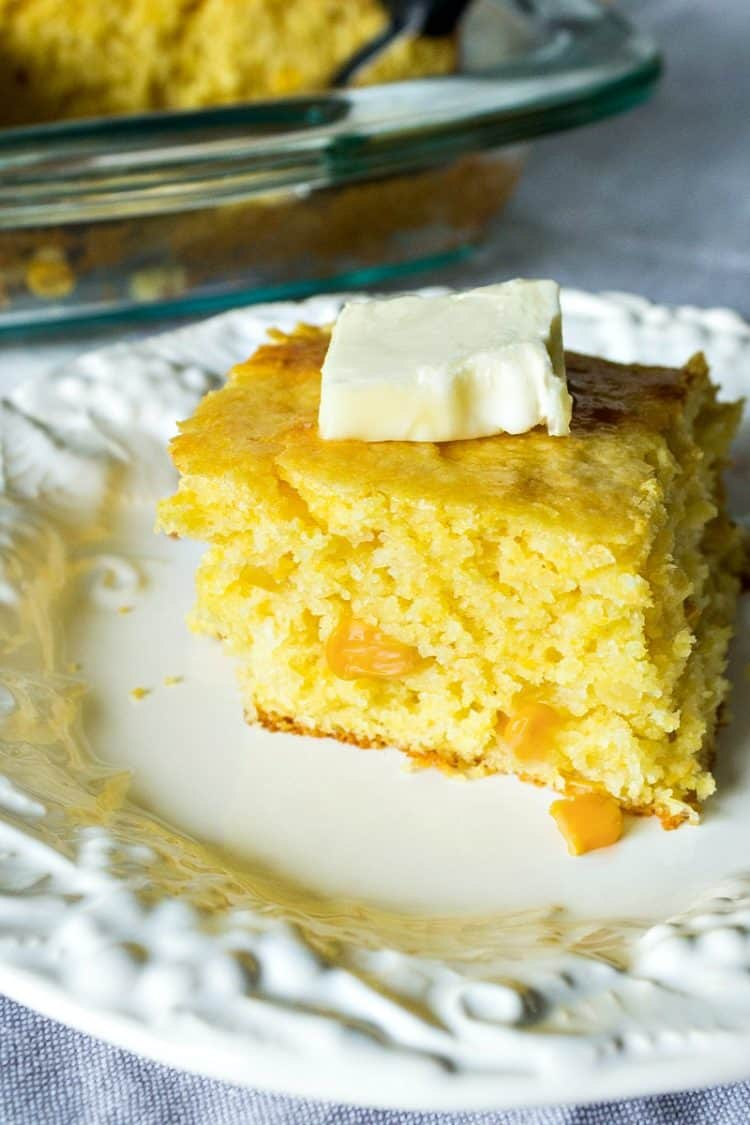 Cream Cheese Jiffy Cornbread - Made with cornbread mix, cream cheese and creamed corn, this cornbread recipe is a quick and easy family favorite.