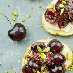 How to make Balsamic Cherry Ricotta Crostini with Pistachios