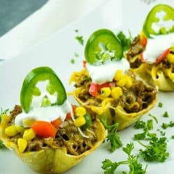 How to make mini taco cups