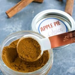 Make this delicious Apple Pie Spice blend to add amazing flavor to your baked goods. It's an easy recipe using 4 pantry ingredients.
