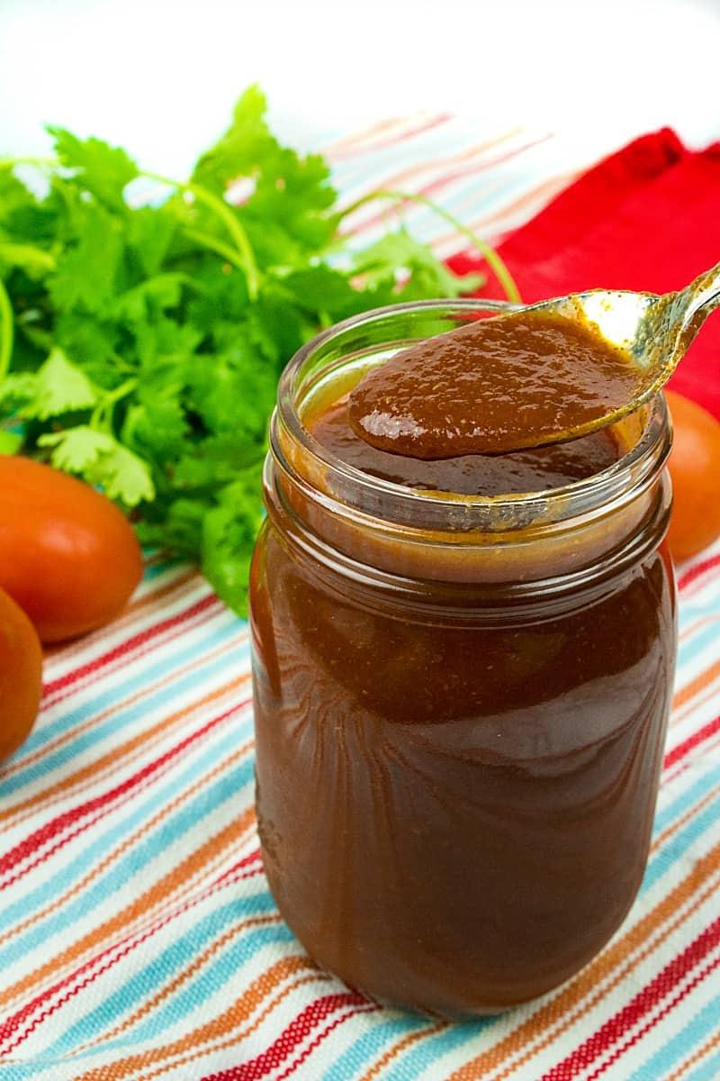 Easy Red Enchilada Sauce – Freezer Prep