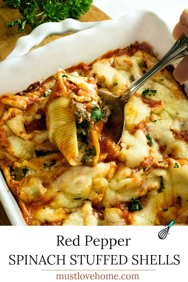 Healthy cheese and veggie stuffed pasta shells made ahead for an easy freezer family meal.