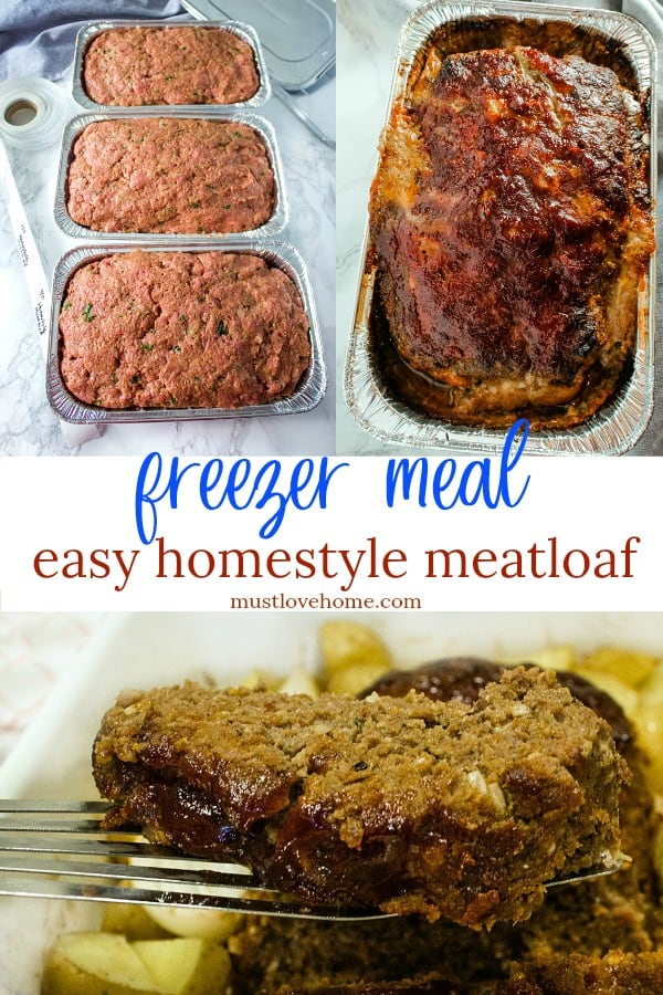 Homestyle Meatloaf is pretty much total comfort food - right from your freezer. It's deliciously easy to mix and tastes just like Grandma used to make. #mustlovehomecooking
