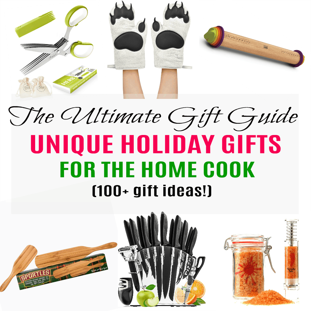 The ultimate holiday gift guide for the home cook with over 100 gift ideas! Includes unique items for every budget AND every kind and experience level of cook.