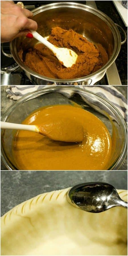 Steps for making Easy make Ahead Pumpkin Pie