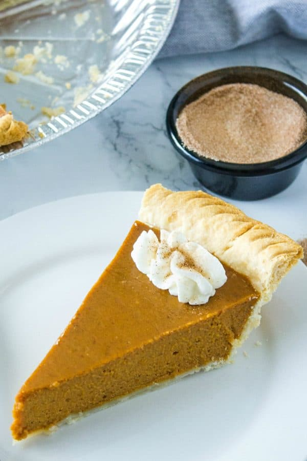 Make Ahead Pumpkin Pie let's you get a jump on Thanksgiving baking, freeing up time and oven space. Pie can be made it up to two days ahead or frozen and thawed just in time for the feast.