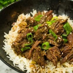 Freezer Meal Korean Barbecue Beef - flat out delicious blend of beef, garlic soy sauce, ginger and a pinch of heat.