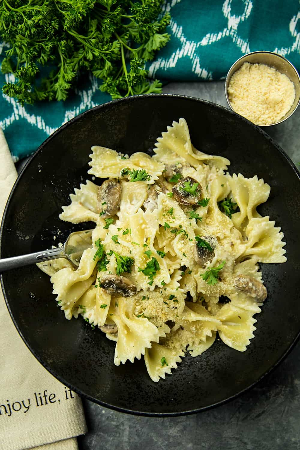 Mushroom Farfalle Pasta With Garlic Herbs Must Love Home