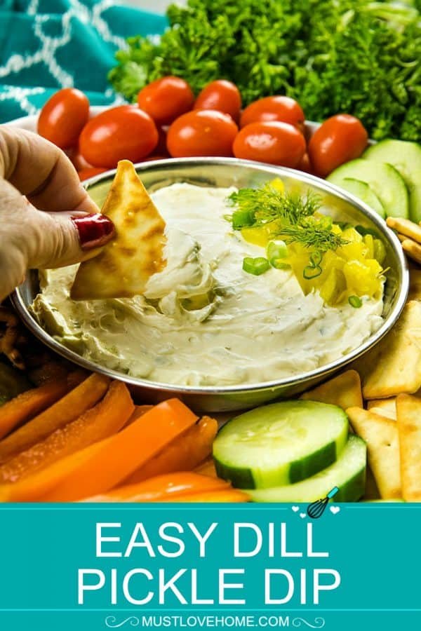 Dill Pickle Dip Recipe -This fun and insanely addictive party pickle dip is made with cream cheese, dill pickles and seasoning and takes only minutes to make.