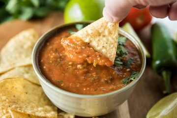 Easy Blackened Tomato Salsa