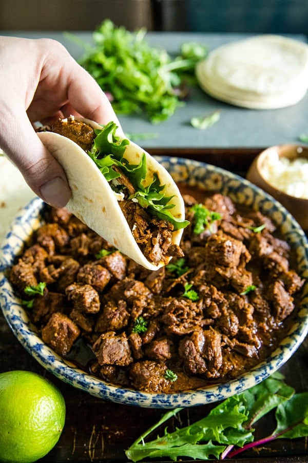 Mexican style beef has never been easier than this Instant Pot Beef Mexicana ....simple and fast right from the pressure cooker! #mustlovehomecooking