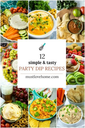 Dips are definitely a classic appetizer that says the party has started!. These are our favorite and most scoopable dips that you have to taste to believe!