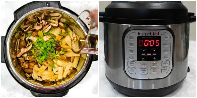 hot and sour soup ingredients in Instant Pot and Instant Pot settings