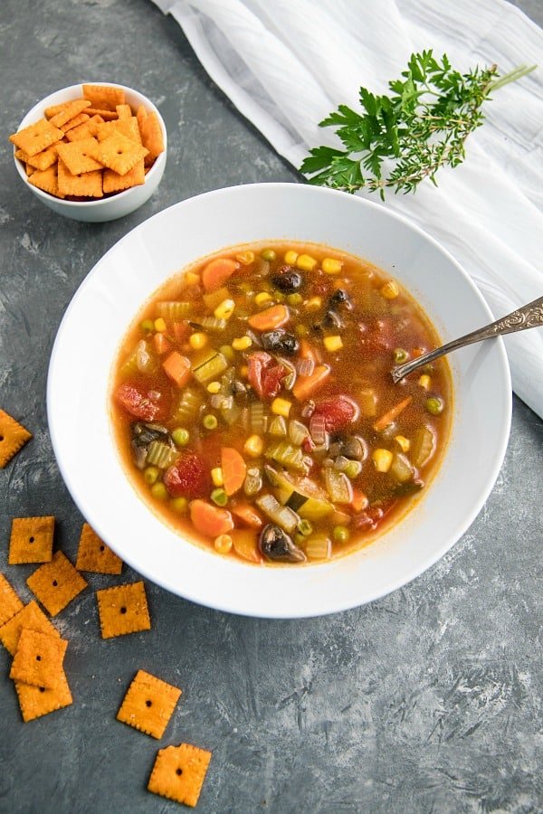 Comforting and hearty whole-meal soup, packed with healthy vegetables, broth and spices just like Gran used to make!