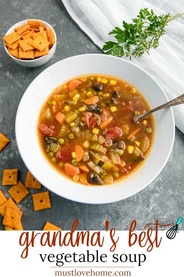Comforting and hearty whole-meal soup, packed with healthy vegetables, broth and spices just like Gran used to make! #mustlovehomecooking